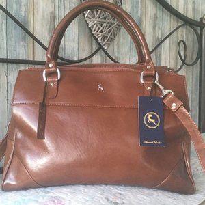 Ashwood Large Leather Triple Compartment Bag